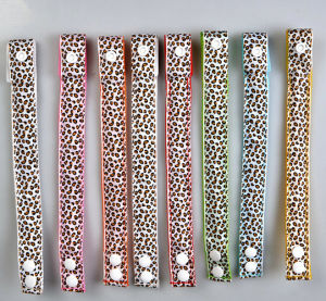 Hot Multicolor Leopard Print Design Soft Nylon Flashing LED Wristband