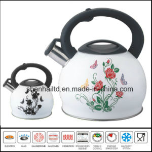 Stainless Steel Whistling Kettle Change Color pictures & photos