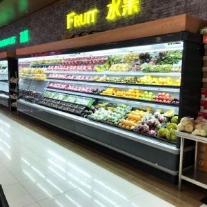 Commercial Open Display Chiller for Vegetable and Fruit Display pictures & photos