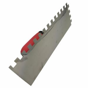 Square Tooth Stainless Steel Trowel with Soft Red Handle FT80 pictures & photos