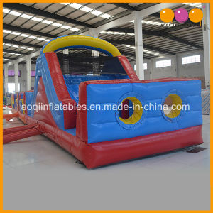 Colorful Inflatable Obstacle Toy with Bouncer and Slide (AQ14198) pictures & photos