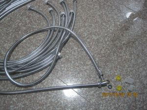 Non-Extensible Stainless Steel Shower Hose, EPDM, Brass Nut, Chromed Finish, Acs Certificate pictures & photos