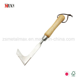 Wholesale Rugged Stainless Steel Garden Tool L-Shaped Blade Wooden Handle Hand Grass Weeder pictures & photos