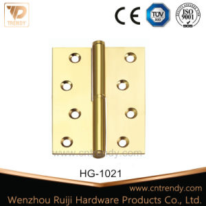 2 Ball Bearing Flat Brass Hinges for Wooden Door Hardware (HG-1017) pictures & photos