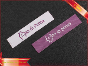 Clothing Neck Label Woven Damask Label pictures & photos