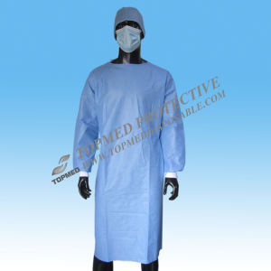 Steriled SMS Disposable Surgical Gown, Medical Gown, SMS Operator Gown pictures & photos