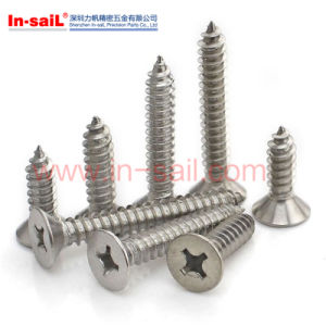Slotted Countersunk Flat Head Self Tapping Screws pictures & photos