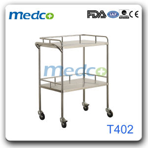 Hospital Stainless Steel Instrument Trolley T403 pictures & photos