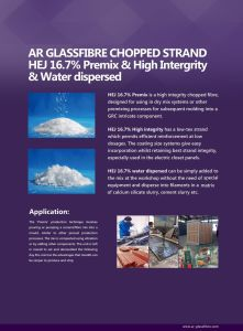 Ar Glassfiber Water Dispersed Chopped Strand pictures & photos