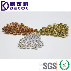 Fashion Jewelry UV Metallic Glitter Ball 316L Surgical Steel Bead for Ring pictures & photos