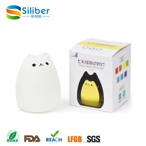 2017 Trending Product Cute Colourful Silicon Cat Shape Night Lamp pictures & photos