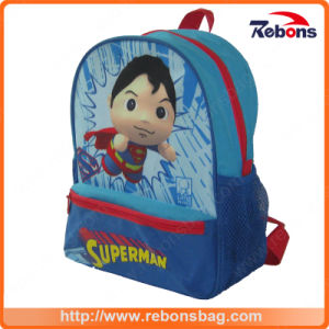 Supplier Expandable High Quality Polyester Fashion Superman School Bag pictures & photos