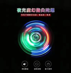 Best Sale LED Light Hand Spinner Fidget Crystal Plastic Fidget Spinner pictures & photos