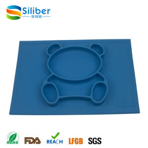 FDA Approved BPA Free One-Piece Silicone Placemat Mat for Children