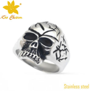 Fashion Stainless Steel Lucky Stone Finger Ring pictures & photos