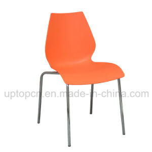 Wholesale Restaurant Plastic Chair with Chrome Steel Chair Base and Various Color (SP-UC431) pictures & photos