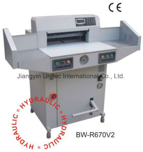 Simple Innovative Products Program Control Paper Guillotine Cutting Machine Bw-R670V2 pictures & photos