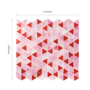 high End Background Wall Decoration Tiles Pink Stained Glass Mosaic pictures & photos