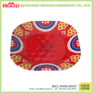 Square Shape Custome Design Print Plastic Dinner Plate pictures & photos