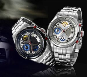 Fashionable UK Style Luxurious Stainless Steel Watch pictures & photos