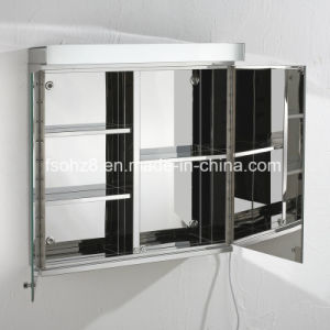 Stainless Steel Furniture Bathroom Illuminated Mirror Cabinet (7060) pictures & photos