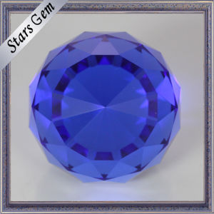 Round Single Point Blue Color Facets Face K9 Glass Ball Beads for Crafts pictures & photos