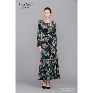 Miss You Ailinna 801973 Elagant Ladies Islamic Floral Long Dress Wholesaler pictures & photos