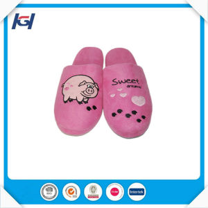 Custom Embroidered Wholesale Ladies Fancy Personalized House Slippers pictures & photos