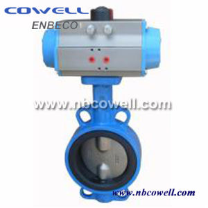 DIN Standard Pneumatic Butterfly Valve pictures & photos