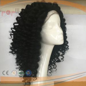 2.5cm Tight Curly off Black Full Hand Tied Human Virgin Remy Hair Full Lace Wig pictures & photos