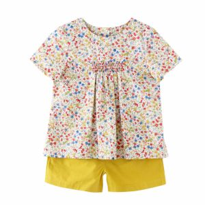 100% Cotton Woven Short Sleeve Girl Clothes pictures & photos