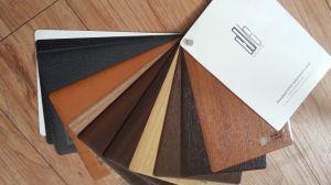 Wooden Grain Plastic Wrap Film for Window Profiles pictures & photos