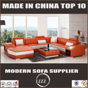 Newest European Living Room Furniture Corner Leather Sofa Divani pictures & photos