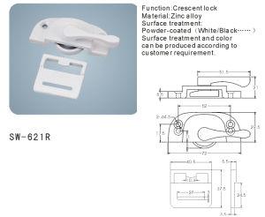 Crescent Lock for Window and Door Hardware Accessories (SW-621R) pictures & photos