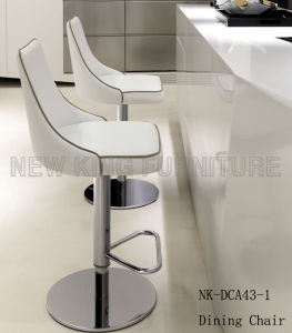 Hot Selling Hotel Leisure Swivel Stainless Steel Bar Chair (NK-DCA043-1)