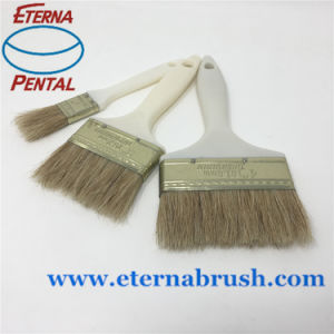 White Boiled Bristle Paint Brush pictures & photos