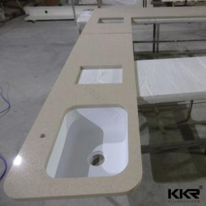 Custom Size Quartz Marble Kitchen Stone Bench Tops (C1704262) pictures & photos