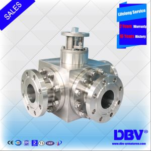 Forged Steel Stainless Steel Three Way Ball Valve
