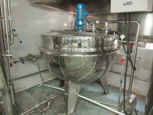 500 Liter Steam Jacketed Cooking Kettle Industrial Cooking Kettle pictures & photos