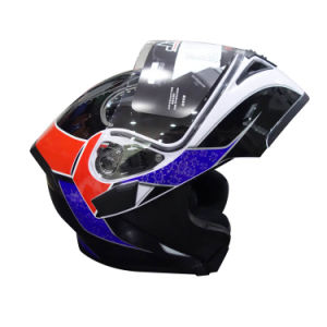Full Face Motorcycle Helmet with Double Lens Flip up pictures & photos