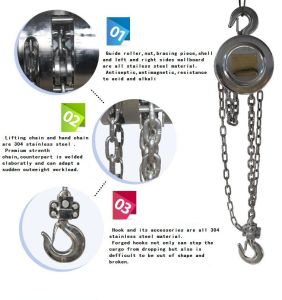 Stainless Teel Chain Hoist Hsz Type with Lowest Price
