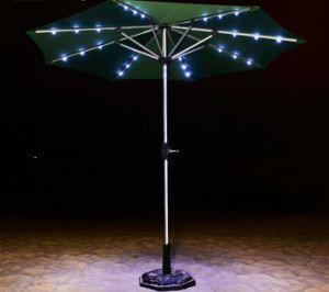 9FT Steel Waterproof Convenient Market Umbrellas with LED pictures & photos