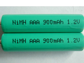 900mAh Ni-MH AAA Rechargeable Battery