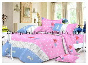 Printed Pattern Queen Fitted Bedspread Patchwork Bedding Set pictures & photos