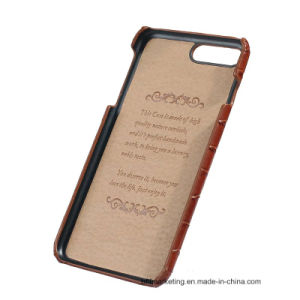 Genuine Leather Back Mobile Cell Phone Case for iPhone pictures & photos