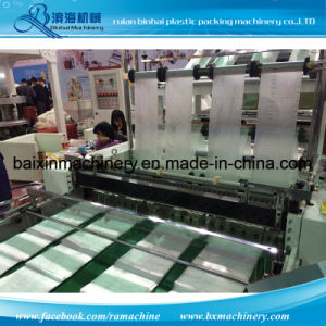 8 Lines Flat Bags &T Shirt Bags Making Machine Cold Cutting Type pictures & photos