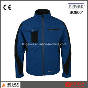 3 Layer Imitation Jean OEM Softshell Jacket pictures & photos