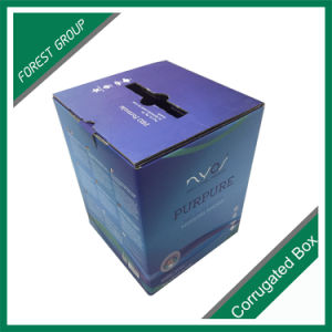Duplex Kraft Paper Cardboard Box with Plastic Handle pictures & photos