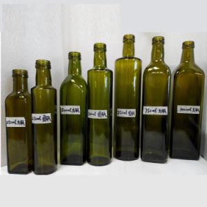Factory Wholesale OEM Olive Oil Bottle Square Bottle Olive Oil Glass Bottle 100ml 250ml 500ml 750ml 1000ml pictures & photos