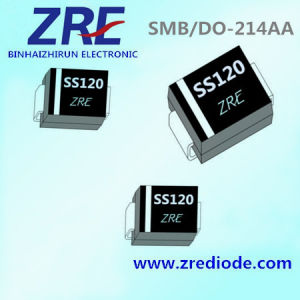 1A Schottky Barrier Rectifier Diode Ss12 Thru Ss120 SMB-Do/214AA Package pictures & photos